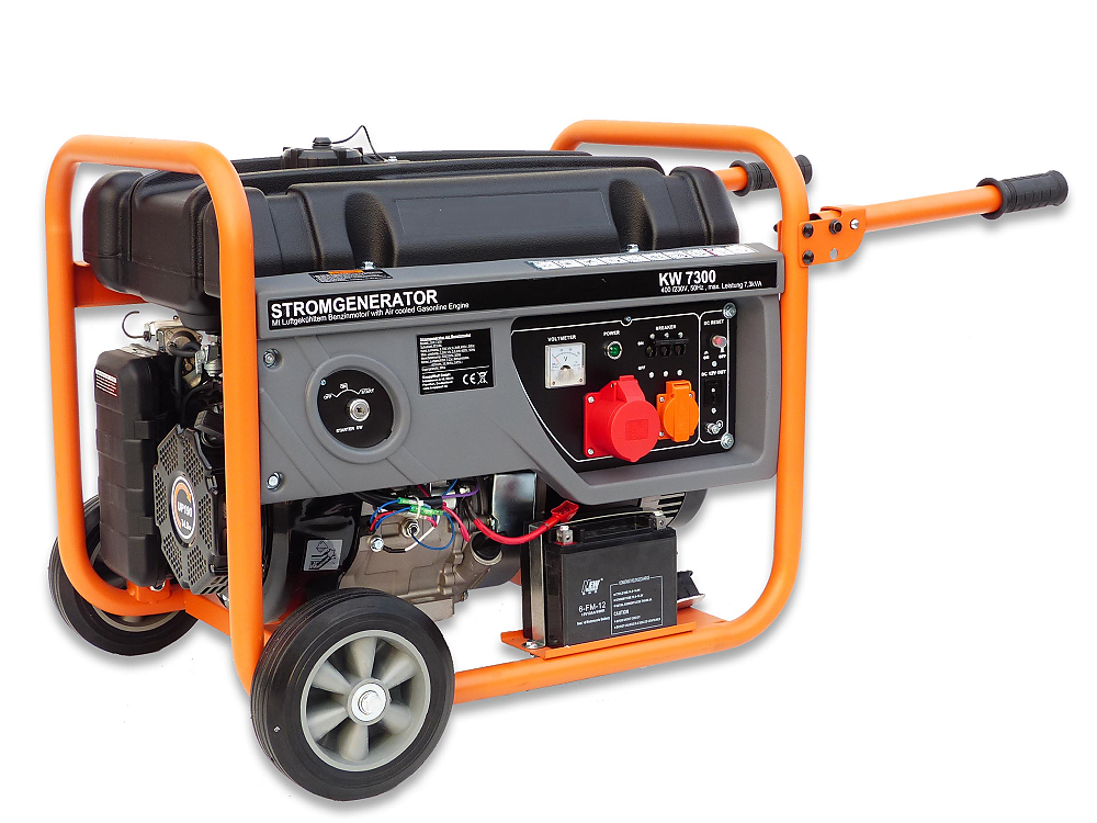 Stromerzeuger 6,3 kW 3 Phasen Generator Notstrom Aggregat Starkstrom ...
